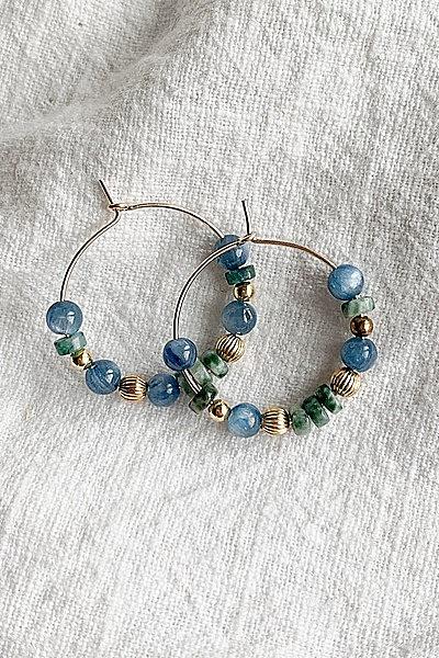 Boucles de d oreille el%c3%a9anore bleu vert